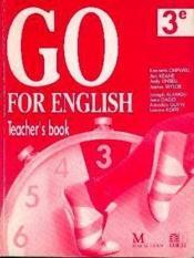 Go For English 3e / Livre Du Professeur (Afrique De L'Ouest) - Couverture - Format classique