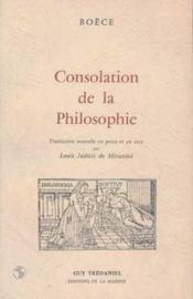 Consolation De La Philosophie - Couverture - Format classique
