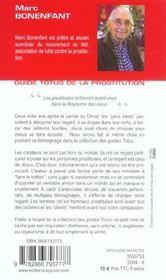 Guide Totus - De La Prostitution - 4ème de couverture - Format classique