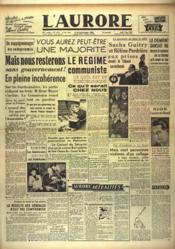 Aurore (L') N°1157 du 03/06/1948 - Couverture - Format classique