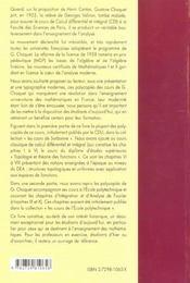Mathematiques Cours De Gustave Choquet - 4ème de couverture - Format classique