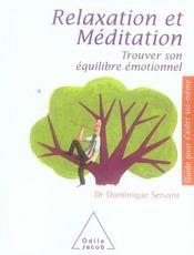 Relaxation et méditation ; trouver son équilibre émotionnel - Intérieur - Format classique