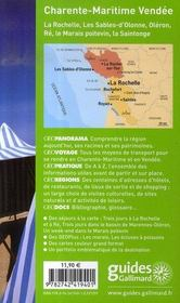 Charente-Maritime, Vendée (édition 2007-2008) - 4ème de couverture - Format classique