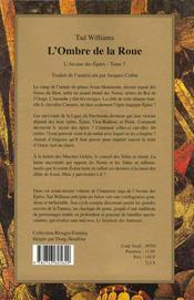 L'Ombre De La Roue - 4ème de couverture - Format classique