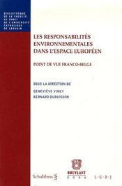 Les responsabilites environnementales - Intérieur - Format classique
