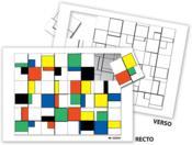 Puzzle à la manière de... Mondrian - Couverture - Format classique