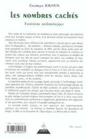 Les Nombres Caches - 4ème de couverture - Format classique