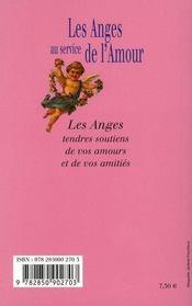 Les Anges Au Service De L'Amour - 4ème de couverture - Format classique