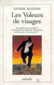 Les Voleurs De Visages - Couverture - Format classique