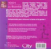 1001 petits secrets de sante - 4ème de couverture - Format classique