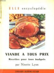 Viande A Tous Prix. Recettes Pour Tous Budgets. Collection : Elle Encyclopedie N° 10 - Couverture - Format classique