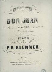 Don Juan De Mozart - Pour Piano. - Couverture - Format classique