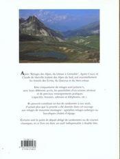 Refuges Des Alpes - 4ème de couverture - Format classique