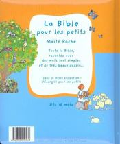 La Bible Pour Les Petits - 4ème de couverture - Format classique