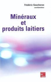 Mineraux et produits laitiers - Couverture - Format classique