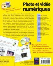 Photo Et Video Numerique ; Un Coup D'Oeil Pour Un Coup De Pouce - 4ème de couverture - Format classique