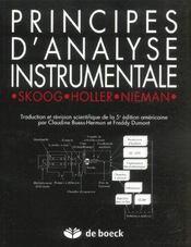 Principes d'analyse instrumentale - Intérieur - Format classique