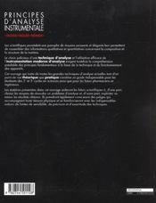 Principes D'Analyse Instrumentale - 4ème de couverture - Format classique