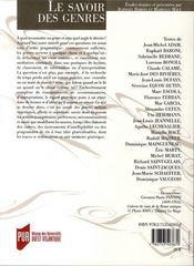 Revue La Licorne T.79 ; Le Savoir Des Genres - 4ème de couverture - Format classique