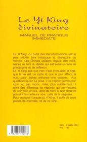 Le Yi-King Divinatoire - 4ème de couverture - Format classique