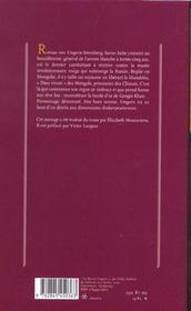 Le baron Ungern ; Khan des steppes - 4ème de couverture - Format classique