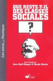 Que Reste-T-Il Des Classes Sociales - Intérieur - Format classique