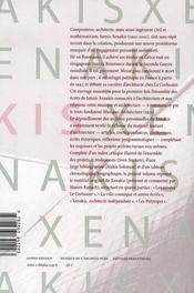 Musique de l'architecture - 4ème de couverture - Format classique