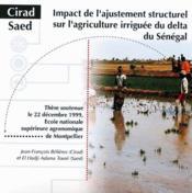 Impact de l'ajustement structurel sur l'agriculture irriguée du delta du Sénégal - Couverture - Format classique