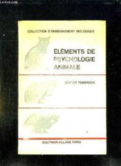 Elements De Psychologie Animale. - Couverture - Format classique