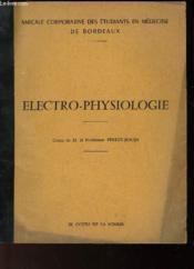 Electro-Physiologie - Couverture - Format classique