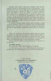 Diagonale Du Suicidaire Jeux De Mort En Fin D'Adol - 4ème de couverture - Format classique