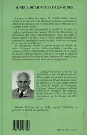 Mineur De Montceau-Les-Mines - 4ème de couverture - Format classique