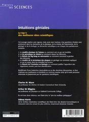 Intuitions géniales - 4ème de couverture - Format classique