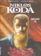 Niklos Koda t.9 ; arcane 16 - Intérieur - Format classique