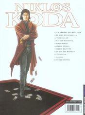 Niklos Koda t.9 ; arcane 16 - 4ème de couverture - Format classique