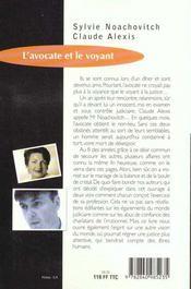 L'Avocate Et Le Voyant - 4ème de couverture - Format classique