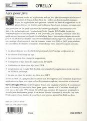 Ajax pour java - 4ème de couverture - Format classique
