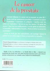 Cancer De La Prostate (Le) - 4ème de couverture - Format classique