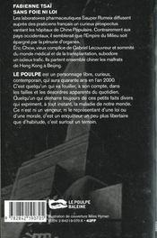 Sans Foie Ni Loi - 4ème de couverture - Format classique
