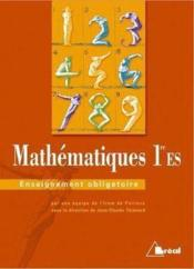 Maths Premiere Es-Oblig. - Couverture - Format classique