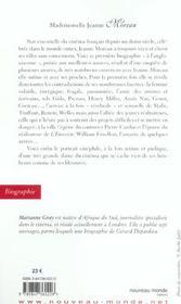 Jeanne Moreau - 4ème de couverture - Format classique