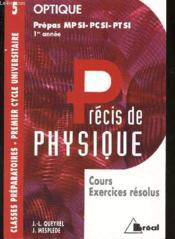 Precis de physique t.5 ; optique mpsi pcsi ptsi - Couverture - Format classique