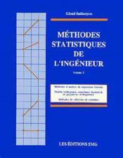 Methodes statistiques de l'ingenieur vol 2 broche - Couverture - Format classique