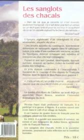 Les sanglots des chacals - 4ème de couverture - Format classique