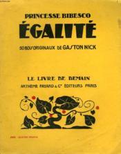 Egalite. 50 Bois Originaux De Gaston Nick. Le Livre De Demain N° 171. - Couverture - Format classique