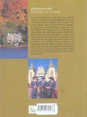 Québec et Acadie - 4ème de couverture - Format classique