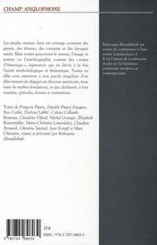 Texte d'Amérique ; écrivains et artistes américains entre américanité et originalité - 4ème de couverture - Format classique