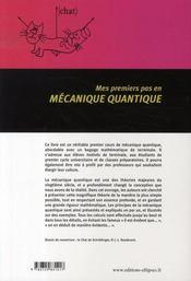 Mes premiers pas en mécanique quantique - 4ème de couverture - Format classique
