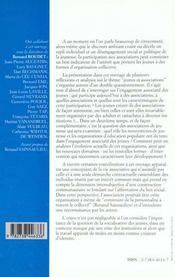 Des Jeunes Et Des Associations - 4ème de couverture - Format classique
