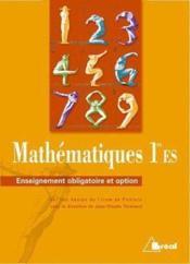 Maths premiere es-oblig+option - Couverture - Format classique